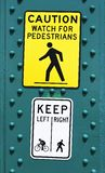 Pedestrian street Signage in Vancouver stock photography