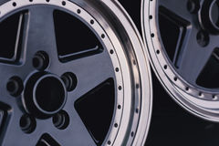 Close up of rims car alloy wheel. Sport wheels Royalty Free Stock Image