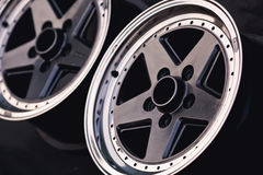 Close up of rims car alloy wheel. Sport wheels Stock Photo