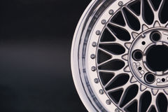 Close up of rims car alloy wheel. Sport wheels Royalty Free Stock Photo