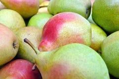 Close-up of ripe organic pears Stock Photo