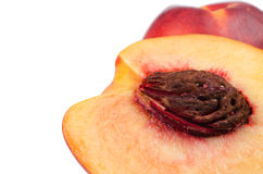 Close up ripe peaches Royalty Free Stock Photo
