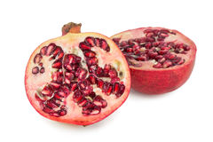Close-up of a ripe pomegranate cut in half Stock Photos