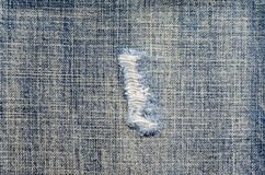 Close up ripped jean Stock Images