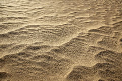 Close up of rippled sand Royalty Free Stock Photos