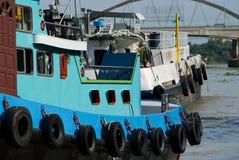 Close-up of river boats Royalty Free Stock Photo