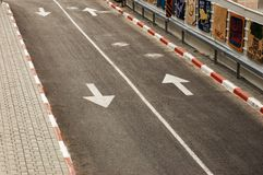 Close-up of a road Royalty Free Stock Photography