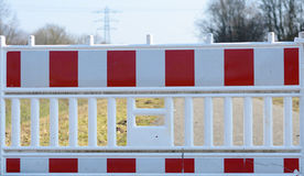 Close up on road closed sign Royalty Free Stock Image