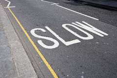 Close-Up of road marking  Royalty Free Stock Photos