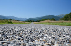 Close-up of the road surface Royalty Free Stock Image
