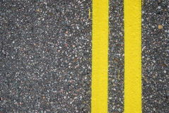 Close-up of road surfacing with lane lines Stock Photo