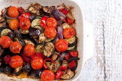 Close up roast vegetables Royalty Free Stock Image