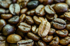 Close up of  roasted coffee bean Stock Photos