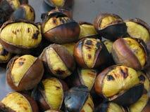 Close up Roasted das castanhas Foto de Stock Royalty Free