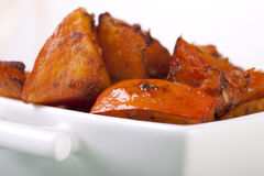 Close Up of Roasted Pumpkin in Bowl Royalty Free Stock Photos