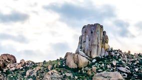 Close up of the rock named Tom`s Thumb in the McDowell Mountain Range. Around Phoenix, Arizona royalty free stock photos