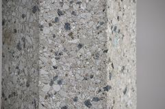 White and blue rock texture. Close up of a rock texture with blue white and grey rocks stock photography