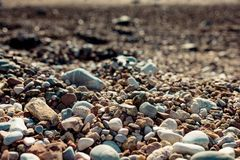 Close-up of rocks on beach stock photography