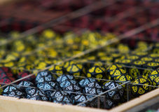 Close up on role playing game rpg dices Royalty Free Stock Photography