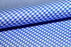Close up roll arrow pattern fabric blue and white of shirt Stock Photos