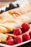 Close up of roll pancakes Stock Photography