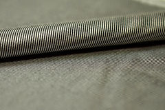 Close up roll stripe gray and black fabric of shirt Royalty Free Stock Images