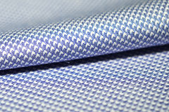 Close up roll striped fabric blue and white of shirt Royalty Free Stock Image