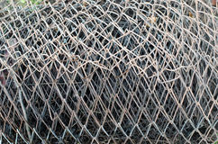 Close up on a roll of wire. Stock Image