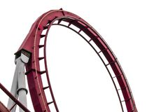 Close-up roller coaster track stock photo