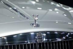 Nonthaburi , Thailand - Dec 6, 2018: close up Rolls Royce brand logo. Close up Rolls Royce brand logo on luxury car royalty free stock photos