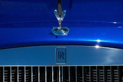 Close up of a Rolls Royce royalty free stock photo