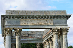 Close up of Roman folly Royalty Free Stock Photo