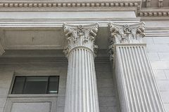 Close-up of Roman Style Columns Stock Images