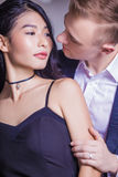 Close-up of romantic couple looking at each other in house Royalty Free Stock Images