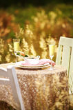 Close up romantic dinner Stock Photo