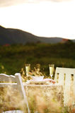 Close up romantic dinner Royalty Free Stock Image