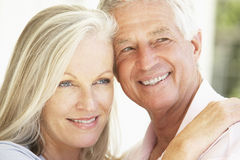 Close Up Of Romantic Senior Couple Royalty Free Stock Images
