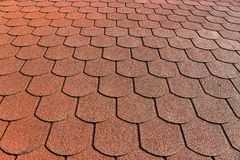 The roof with bituminous coating. Close up of the roof with bituminous coating royalty free stock photo