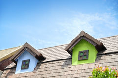 Close up Roof of the houses. Style European Stock Photography