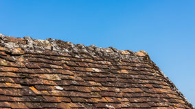 Close up of the roof of the old house Royalty Free Stock Photos