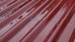 Roof in the raining time stock footage