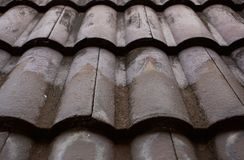 Close up of roof tiles royalty free stock photo