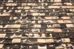 Close-up of roof tiles at Wat Ton Kwain Chiang Mai, Thailand Royalty Free Stock Photos