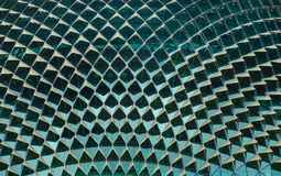 Close-up of roof top of Esplanade theatre. Singapore - Jun 13, 2017. Close-up of roof top of Esplanade theatre at downtown in Singapore. The building contains an Stock Image