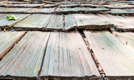Close-up of roof wooden planks Royalty Free Stock Photography