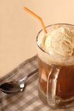 Close up of a root bear float Stock Photos