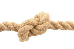 Close-up of rope with knot Royalty Free Stock Image