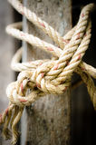 Close up of rope And Knot On Background Stock Photo