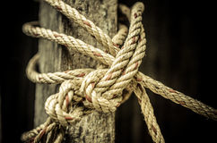 Close up of rope And Knot On Background Stock Images