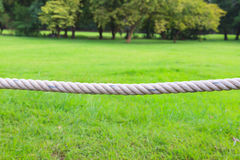 Close up rope in a park Royalty Free Stock Photography